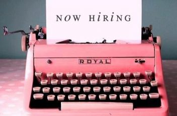 now hiring typewriter