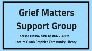 Grief Matters Monthly Grief Support Group @ Lomira QuadGraphics Community Library | Lomira | Wisconsin | United States