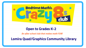 Crazy 8's Math Club @ Lomira QuadGraphics Community Library | Lomira | Wisconsin | United States
