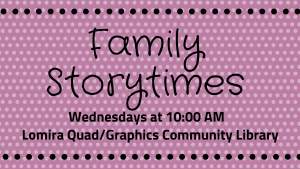 Family Storytimes @ Lomira QuadGraphics Community Library | Lomira | Wisconsin | United States