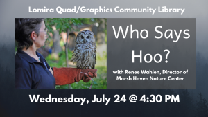 Who Says Hoo? @ Lomira QuadGraphics Community Library