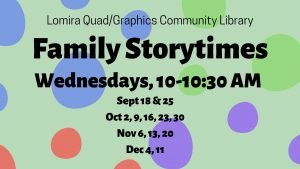 Family Storytimes @ Lomira QuadGraphics Community Library