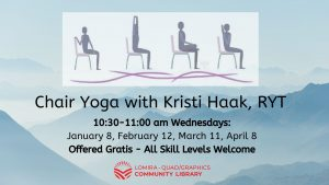 Free Chair Yoga at the Library with Kristi Haak, RYT @ Lomira QuadGraphics Community Library