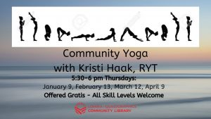 Free Community Yoga at the Library with Kristi Haak, RYT @ Lomira QuadGraphics Community Library