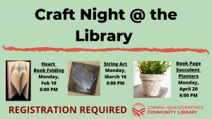 Craft Night at the Library (REGISTRATION REQUIRED)