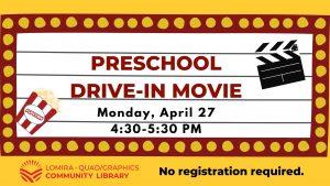 Preschool Drive-In Movie @ Lomira QuadGraphics Community Library