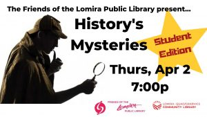 History's Mysteries: Student Edition! @ Lomira QuadGraphics Community Library