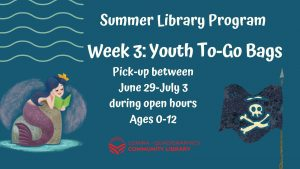 All Ages Summer Library Program June 15 through July 31
