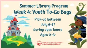 Youth Summer Library Program Week 4 To-Go Bags